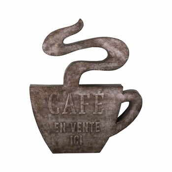 Decorațiune metalică de perete Antic Line Cafe, 49 x 58,5 cm