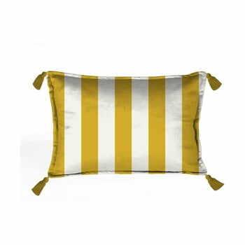 Pernă cu husă din catifea Velvet Atelier Borlas,50x35cm, auriu - alb la pret 158 lei