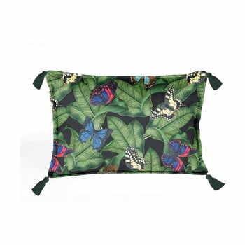 Pernă cu husă din catifea Velvet Atelier Borlas,50x35cm, verde la pret 158 lei