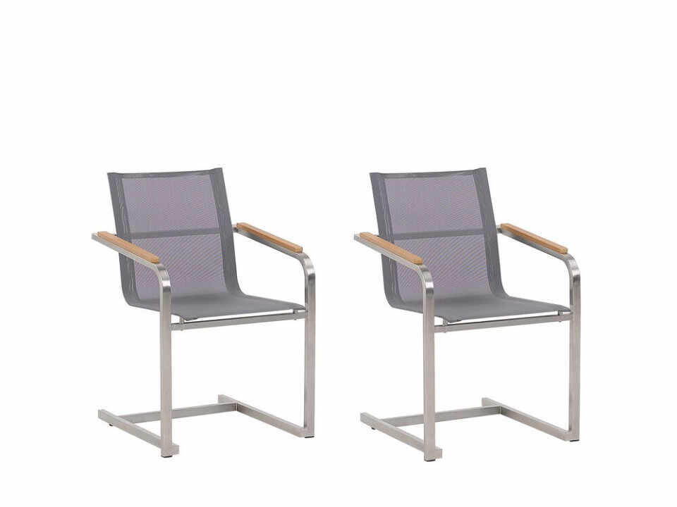 Set de 2 scaune de terasă Cosoleto, gri, 85 x 56 cm la pret 744.6 lei