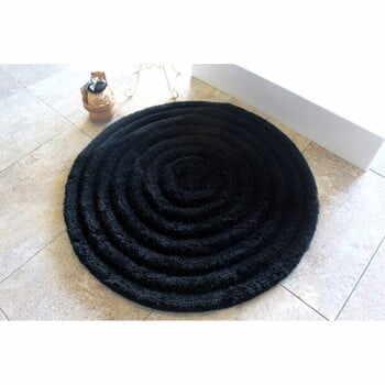 Covoraș de baie Alessia Round Black, Ø 90 cm la pret 220 lei