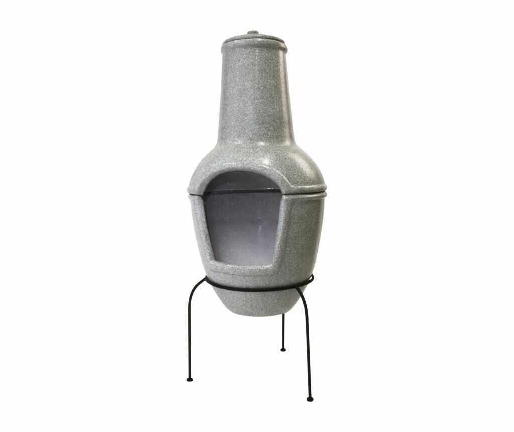 Cos pentru foc - Esschert Design, Gri & Argintiu la pret 489.99 lei