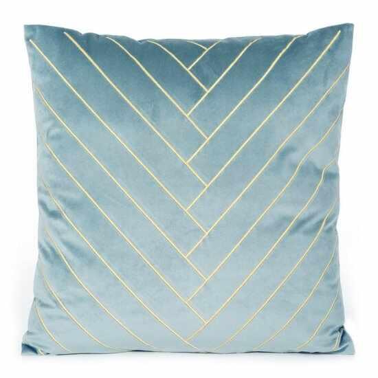 Set 2 perne decorative cu huse detasabile Mandy Velvet Bleu, 45 x 45 cm la pret 151 lei