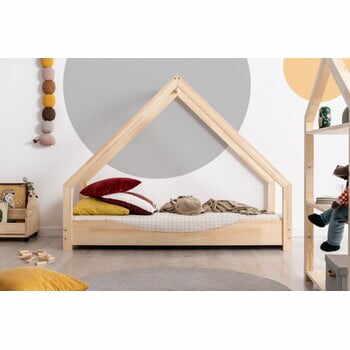 Pat tip căsuță din lemn de pin pentru copii Adeko Loca Elin,90x170cm la pret 1594 lei
