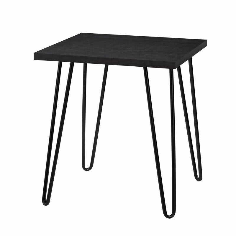 Masa laterala Acevedo, negru, 56 x 49 cm la pret 205 lei