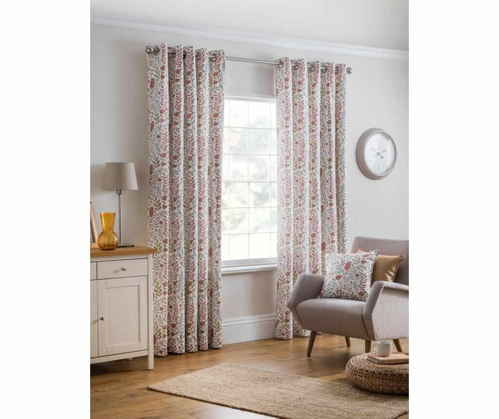Set 2 draperii Everley Brown 229x183 cm - Design Studio, Maro