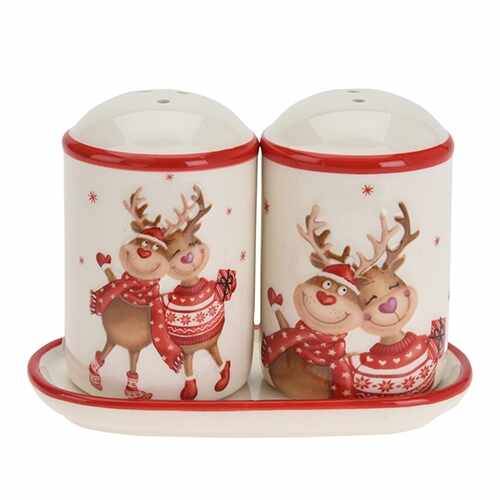 Set sare si piper Christmas Love 11.5x6x8 cm