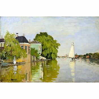 Reproducere tablou Claude Monet - Houses on the Achterzaan, 90x60 cm la pret 222 lei