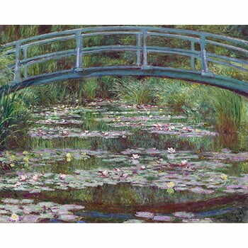 Reproducere tablou Claude Monet - The Japanese Footbridge, 50x40 cm la pret 129 lei