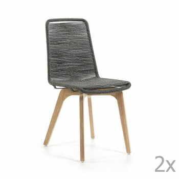 Set 2 scaune La Forma Glendon, gri deschis la pret 1389 lei