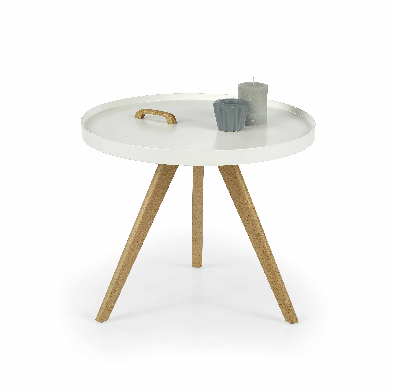 Masa de cafea din MDF si lemn Luka, Ø55xh45 cm la pret 229 lei