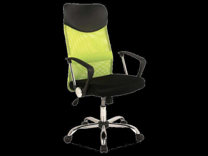 Scaun de birou ergonomic, tapitat cu stofa Q-025 Green / Black, l62xA50xH111-120 cm la pret 407 lei