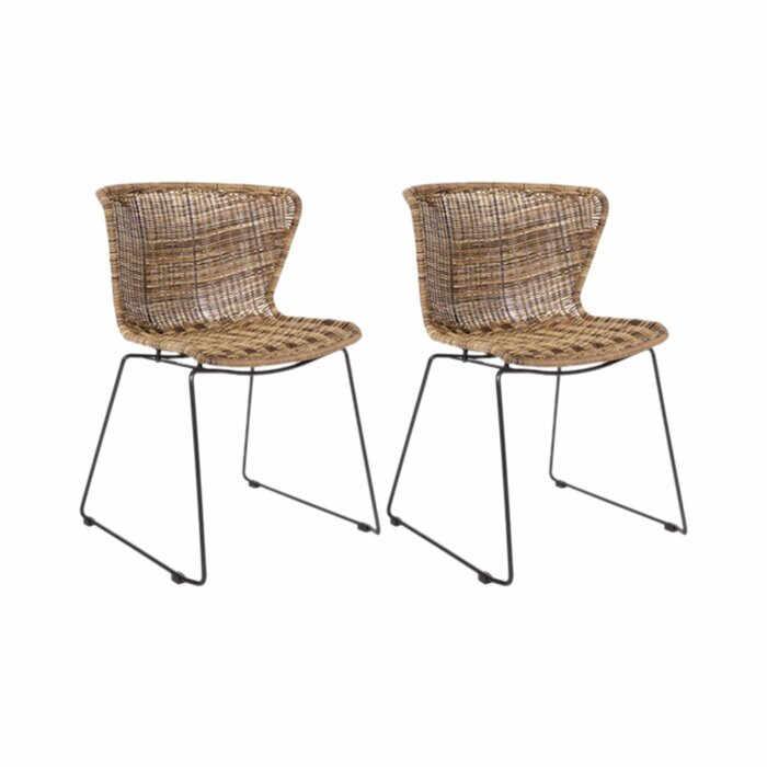 Set de 2 scaune Schwerin, 77,5 x 54,5 x 54 cm la pret 591.3 lei