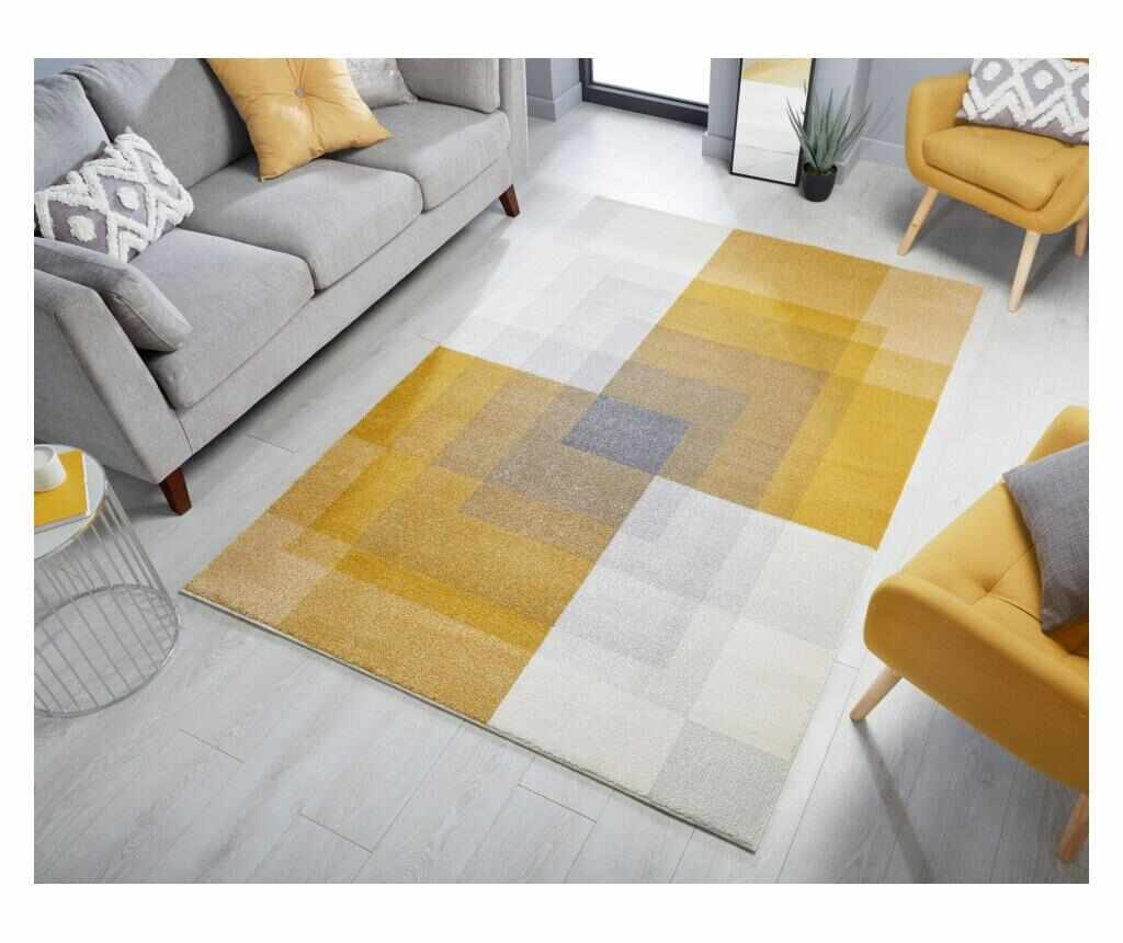 Covor Plaza abstract 120x170 cm - Flair Rugs, Verde la pret 399.99 lei