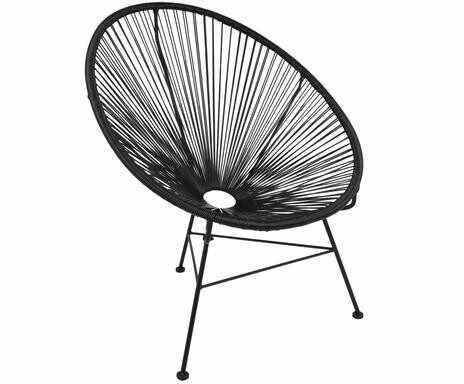 Fotoliu Bahia din metal, negru, 88 x 81 cm la pret 260 lei