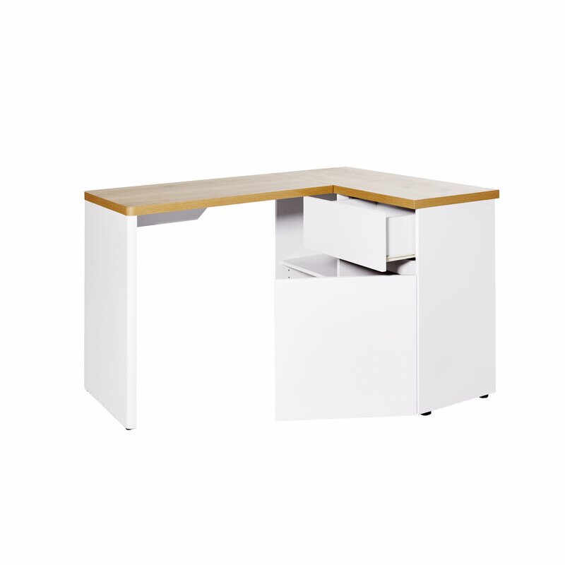 Birou Libre din lemn, alb, 111 x 90 cm la pret 1020 lei