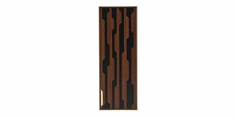 Cabinet suspendat din pal cu 1 usa Louisa Nuc / Negru, l33,6xA28,5xH90,5 cm la pret 584 lei