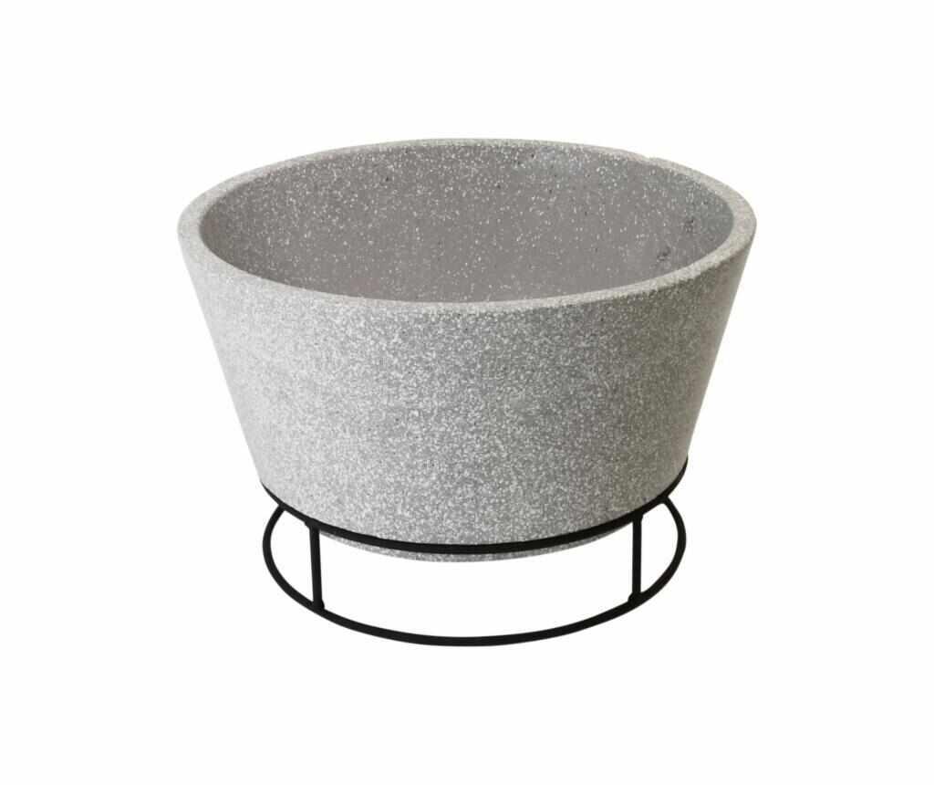 Cos pentru foc - Esschert Design, Gri & Argintiu la pret 369.99 lei