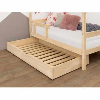 Sertar din lemn cu somieră pentru pat BenlemiBuddy, 90x180cm la pret 1316 lei