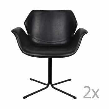 Set 2 scaune cu cotiere Zuiver Nikki, negru la pret 2661 lei