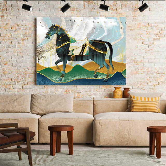 Tablou Canvas Magical Golden Horse