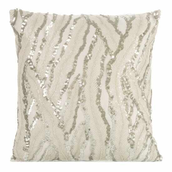 Set 2 perne decorative cu huse detasabile Layla Crem, 45 x 45 cm  la pret 151 lei