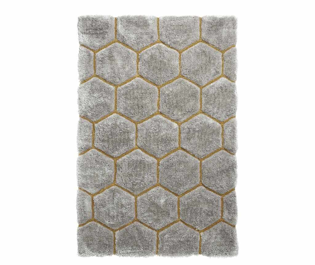 Covor Noble House Comb Grey Yellow 120x170 cm - Think Rugs, Gri & Argintiu