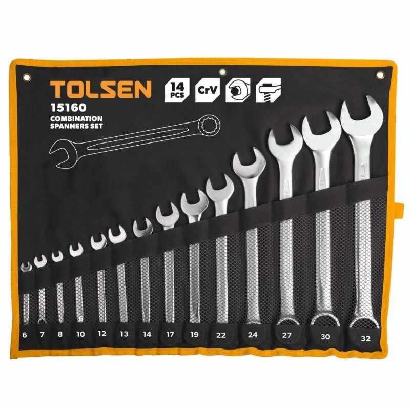 Set 14 chei Tolsen, piulite combinate Cr-V la pret 208 lei
