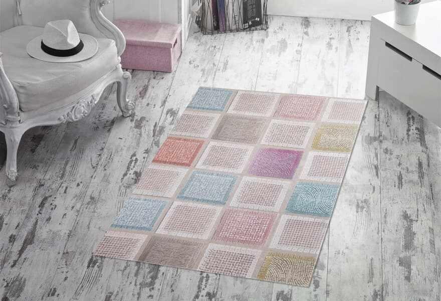 Covor Squares 2024 Multicolor, 80 x 200 cm la pret 197 lei