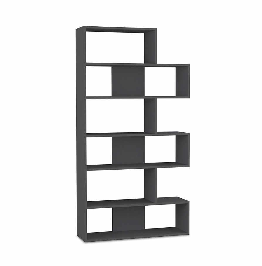 Biblioteca Molly, negru, 95 x 178 cm la pret 925 lei