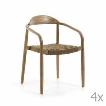Set 4 scaune La Forma Glynis, bej la pret 3967 lei