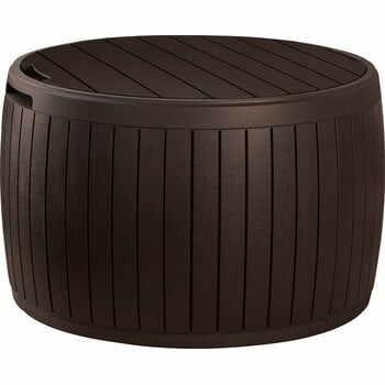 Cutie ovală de depozitare pentru gradină Keter, 68 x 44 cm, maro la pret 426 lei