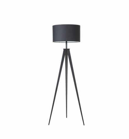 Lampadar Asmo, metal/textil, negru, 45 x 25 x 140 cm, 40w la pret 315 lei