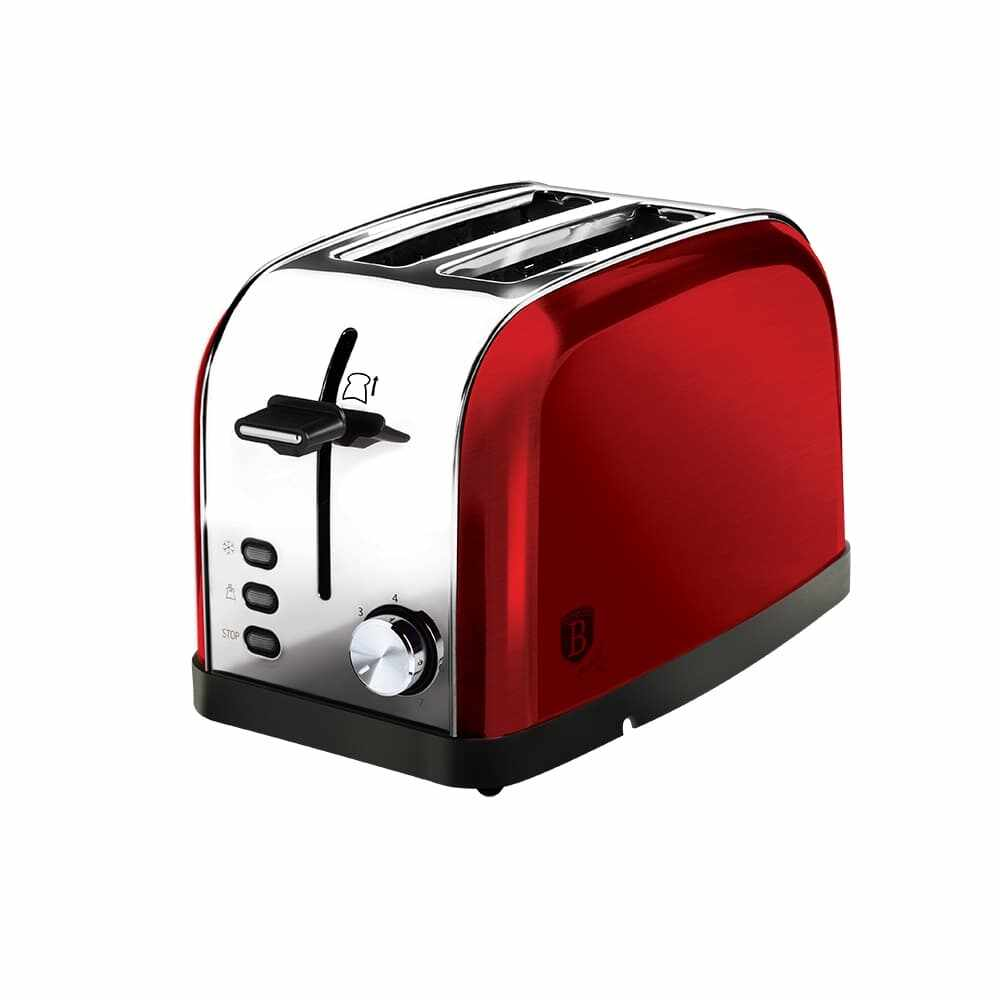 Toaster 2 sloturi, 3 functii, 850W, Metallic Line Burgundy la pret 168 lei
