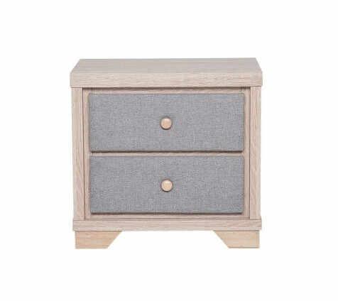 Noptieră cu 2 sertare BERCK, lemn/gri 52 x 40 x 55 cm la pret 355 lei