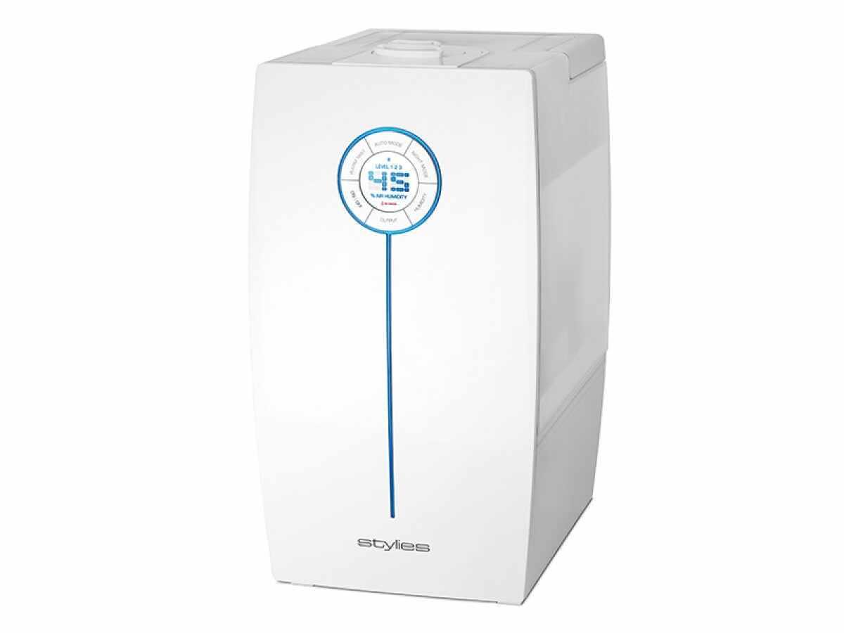 Umidificator cu ultrasunete Hera Alb, 9,6 litri/zi, afisaj electronic, setare umiditate, timer, silver cube, abur cald/rece la pret 505.75 lei
