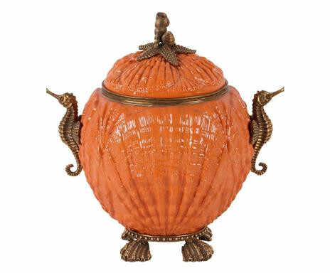 Vas Shell, ceramică/ bronz, 16 x 22 x 22 cm la pret 450 lei