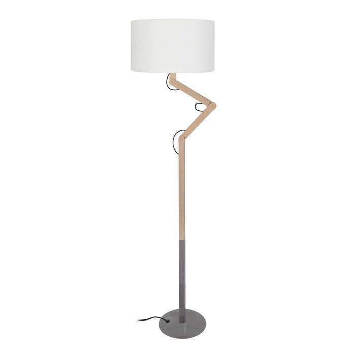 Lampadar Rosamund, lemn/metal, gri, 170 x 45 x 40 cm, 40w la pret 393.75 lei