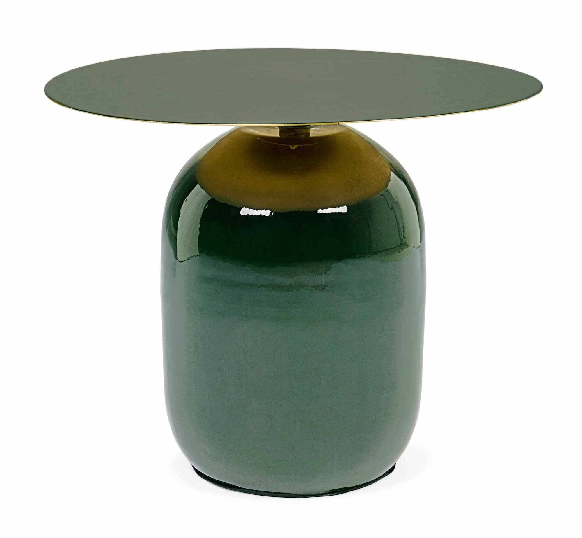 Masa de cafea din metal Nalima Verde Inchis, Ø50xH39,5 cm la pret 712 lei