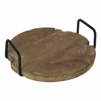 Tavă din lemn de tec, cu mânere, HSM collection la pret 203 lei