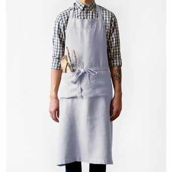 Șorț din in Linen Tales Chef, lungime 100cm, gri deschis la pret 258 lei