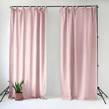 Draperie din in cu bucle de prindere Linen Tales Night Time, 250x140cm, roz deschis la pret 539 lei