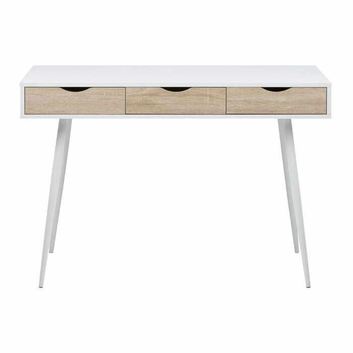Birou Casson, lemn/metal, alb/maro, 77,1 x 110 x 50 cm la pret 630 lei