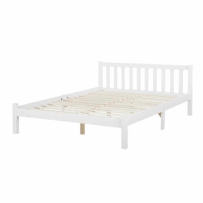 Cadru de pat Zebulon, lemn, alb, 70 x 208 cm la pret 800 lei