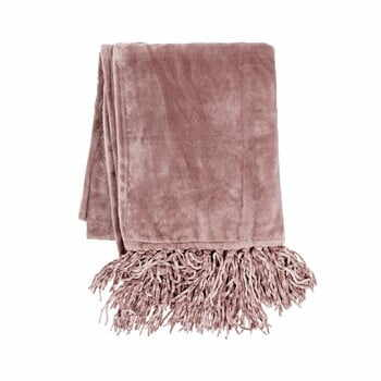 Pătură din micropluș Tiseco Home Studio Tassels,220x240cm, roz la pret 204 lei