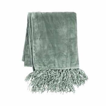 Pătură din micropluș Tiseco Home Studio Tassels,220x240cm, verde la pret 204 lei