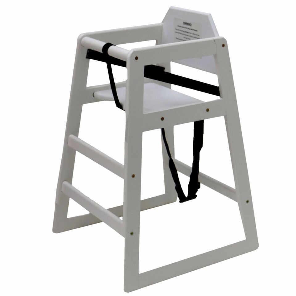 Scaun înalt pentru copii Oypla din lemn, alb la pret 261 lei