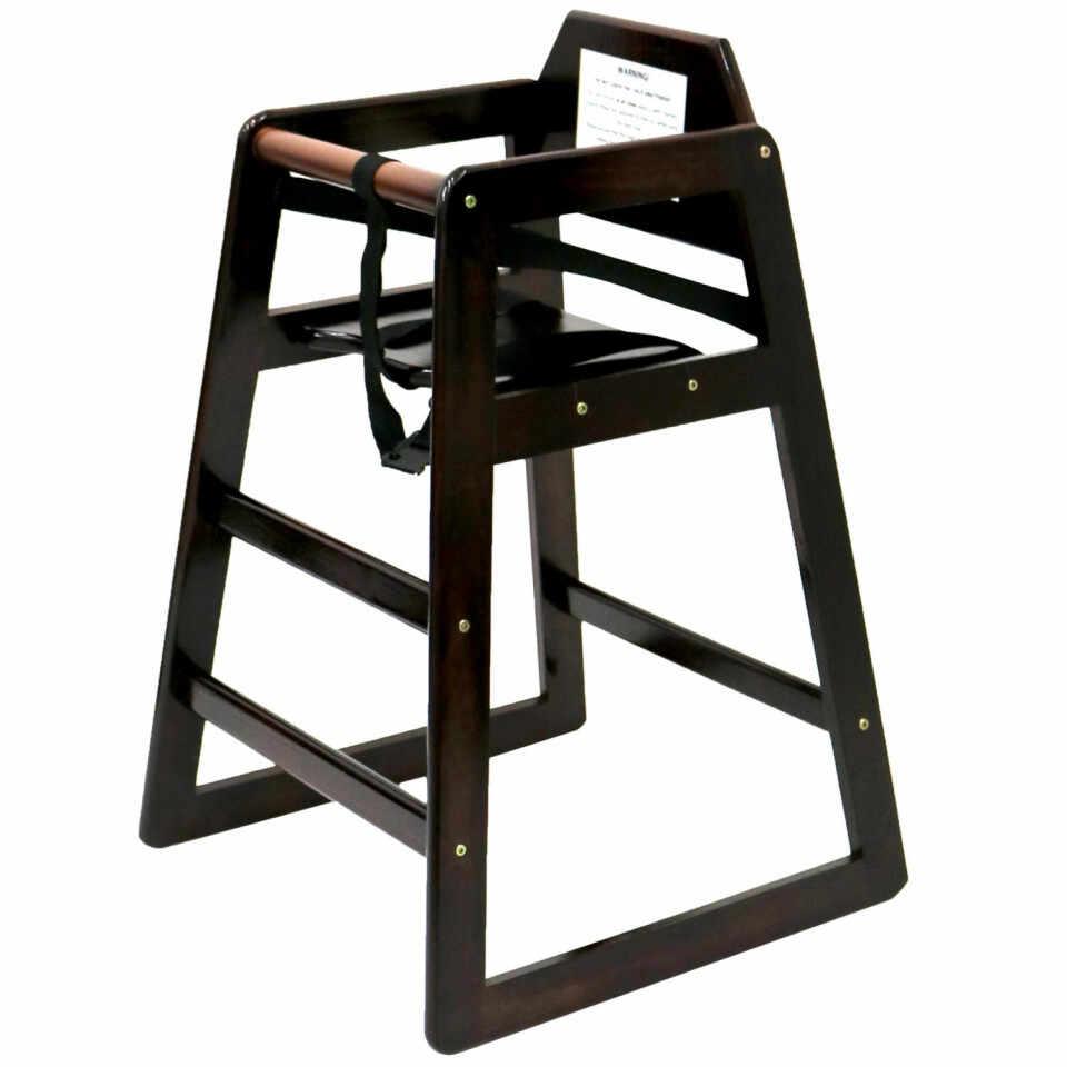 Scaun înalt pentru copii Oypla din lemn, maro închis la pret 261 lei