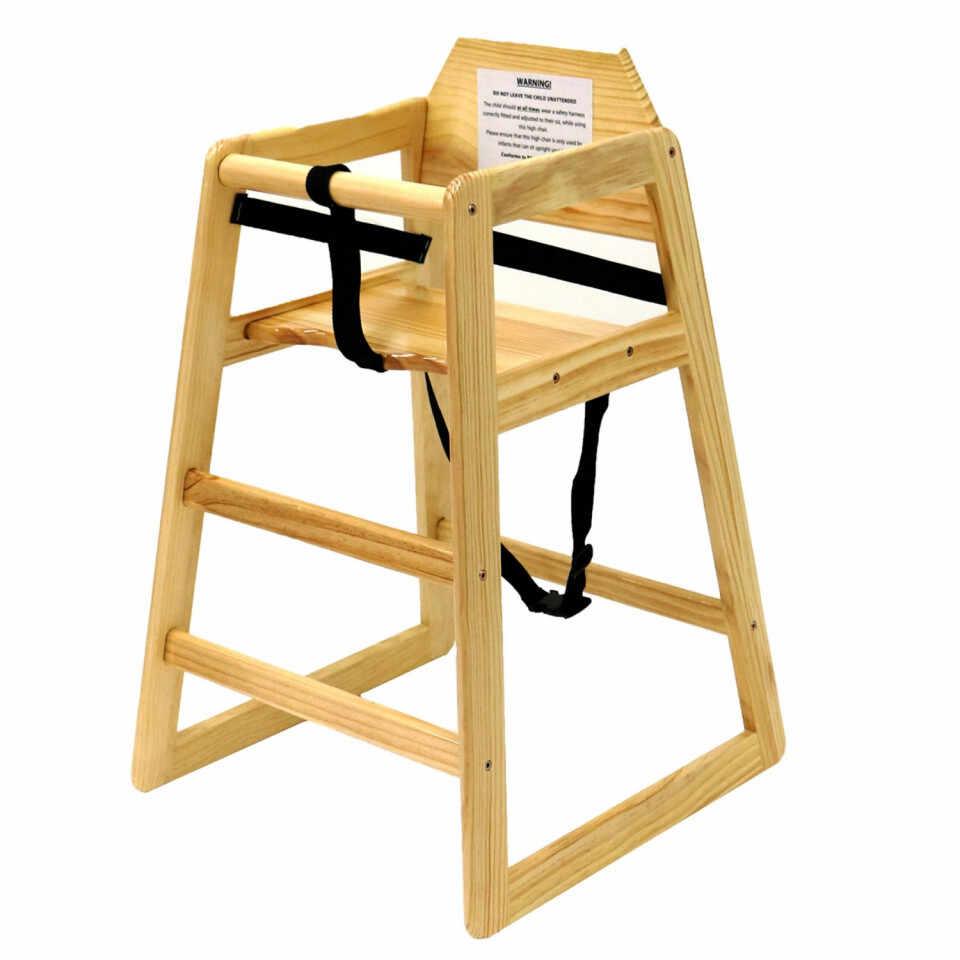 Scaun înalt pentru copii Oypla din lemn natural la pret 261 lei