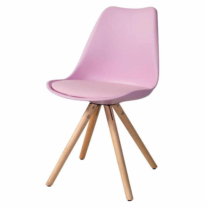 Scaun pentru copii Bergevin, lemn/plastic, roz, 83 x 49 x 17,5 cm la pret 495 lei